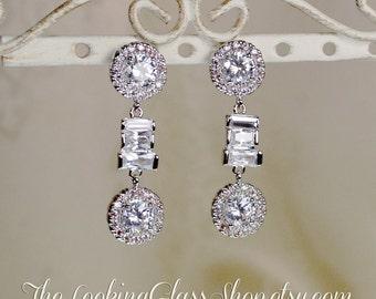 Kate Middleton - Inspired Halo CZ Earrings
