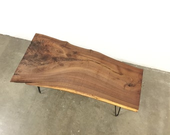 SOLD - Beautifully Grained Live Edge, Walnut Coffee Table