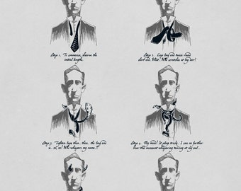 How to Tie a Miskatonic Knot - Funny H.P. Lovecraft Cthulhu Illustration