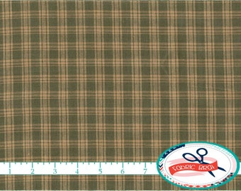 SAGE GREEN HOMESPUN Fabric by the Yard, Fat Quarter Green Check Fabric Plaid Fabric Farmhouse Fabric 100% Cotton Fabric Quilting Fabric w7-7