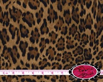 JAGUAR PRINT Fabric by the Yard, Fat Quarter Animal Skin Fabric Brown Cheetah Fabric Quilting Fabric Apparel Fabric 100% Cotton Fabric a2-10