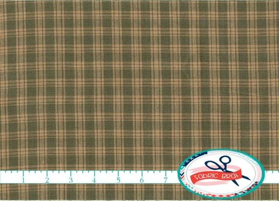 SAGE GREEN HOMESPUN Fabric By The Yard Fat Quarter Green