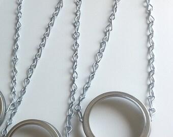 Pair of Hanging Mason Jar Lids by Creative Window - Wide Mouth or Regular Mason Jars Bulk Lids - Best Selling Item -