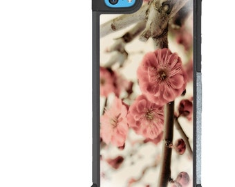iPhone 5 5s 6 6s 6+ 6s+ SE 7 7+ iPod Touch 5 6 Phone Case, Plum Blossom Design, Flowers, Floral, Plus
