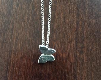 Silver Butterfly Necklace, butterfly necklace, butterfly jewelry, butterfly pendant, small butterfly necklace, silver butterfly, jewellery