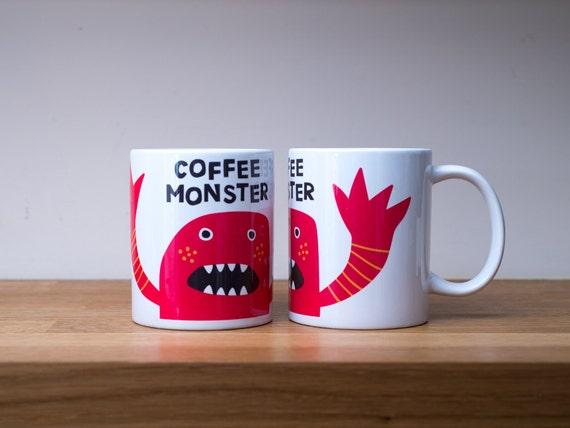 Mug. Coffee monster mug.