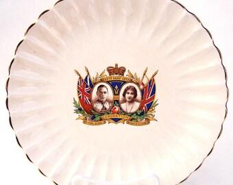 Vintage King George VI Coronation Sovereign Potters Plate