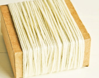 CLEARANCE Thick Cotton Twine in Ivory - 10 Yards - String Cord Ribbon Gift Wrapping Packaging Embellishment Pretty Party Decor