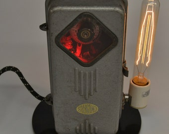 Vintage Industrial Desk Lamp, Man Cave Lighting, Reclaimed Lamp, Art Deco Lamp, Unique Gifts for him, Sangamo Electrical Co