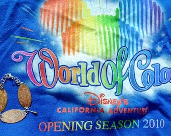 World of Color Disney California Adventure Pressed Penny- 7 inch