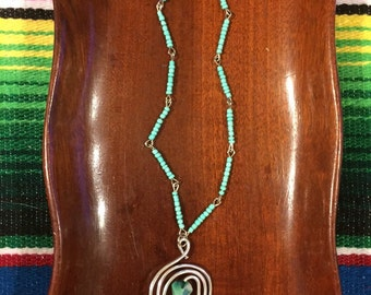 SeaSpiral Necklace-Mint Green