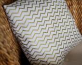 Glittery Gold Chevron Pillow Cover - 16X16, 18X18, 20X20