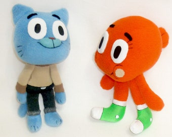 Gumball & Darwin stuffed toys from Amazing World of Gumball