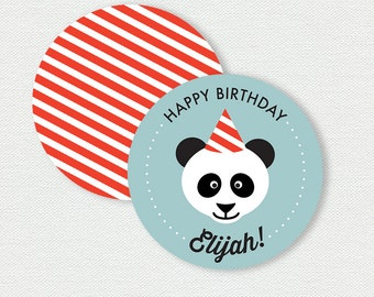 Printable Cupcake Toppers - Panda Birthday Party