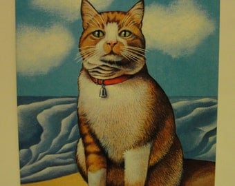 1976 The Illustrated Cat A Poster Book by Jean-Claude Suares and Seymour Chwast SOFTCOVER
