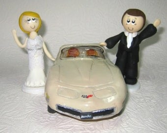 Car cake topper, car wedding cake topper