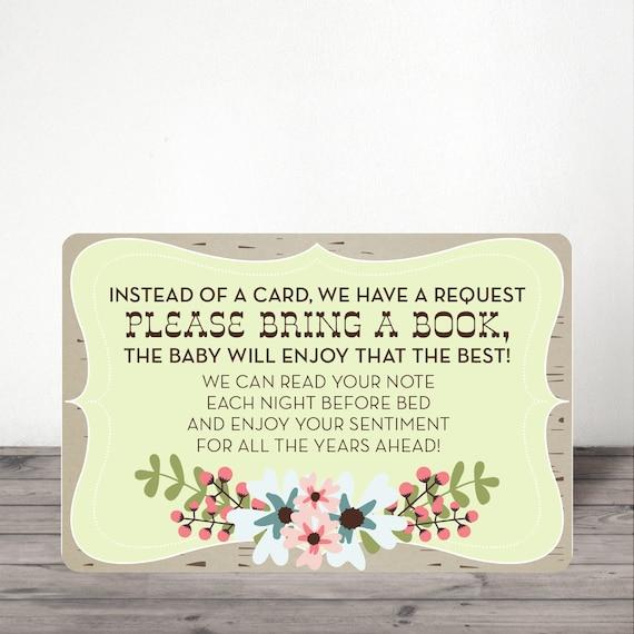instant download baby shower book request baby shower invite