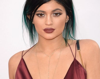 Kylie Jenner Gold Filled Y Necklace Cubic Zirconia