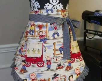 Reversible Woman's Cowboy Apron