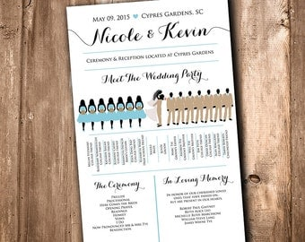 Bridal party program | Etsy