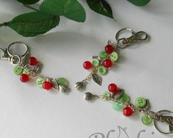 Ladybird Bag Charm, Wildlife Lover Keyring, Nature Hobbyist Present Idea for Women, Cute Gift for Girls, Unique Handmade Bag Accessory