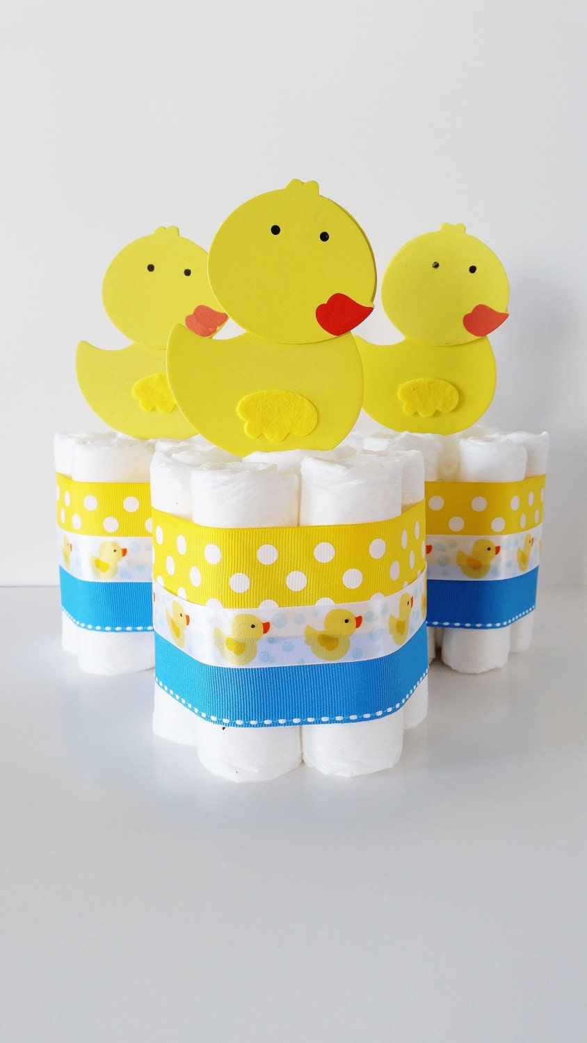 rubber ducky baby shower centerpieces by lillovebugscreations