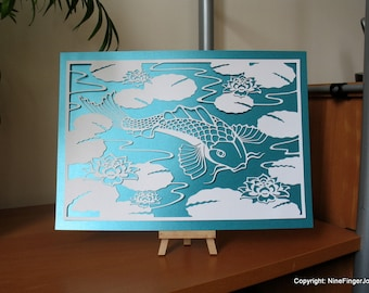 Paper Cut Out, Wall Art, Pictures, Papercut, Paper Cut, Papercutting, Paper Cutting, Papercut Art, Paper Cut Art, Paper Cutting Art, Koi