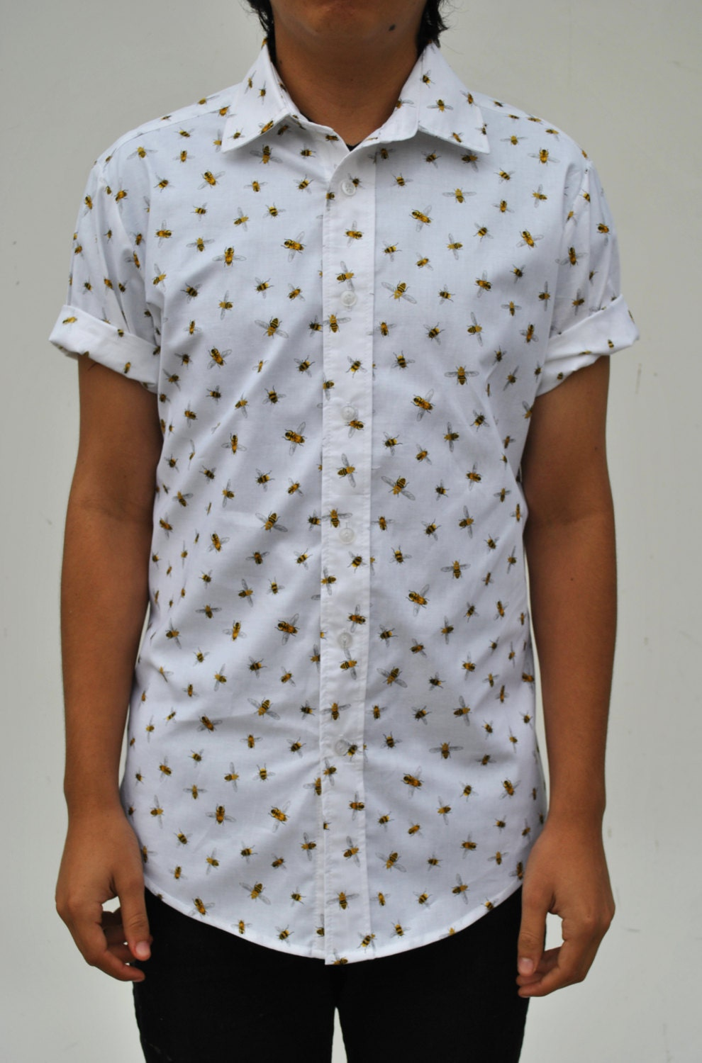 The bees knees short sleeve button up shirt for Short sleeve button up shirts