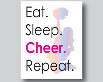 Cheerleading Poster, Cheer Coach Gift, Cheerleading Decor, Unique Cheer Gift, Cheer Poster, Cheerleader Party, Cheer Party