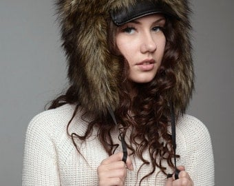 "Hat ""Hunter"", faux fur."