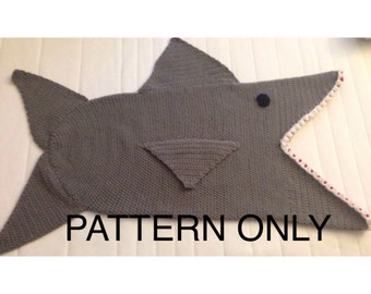 Shark Attack Kid's Blanket, PDF Crochet Pattern - English Only