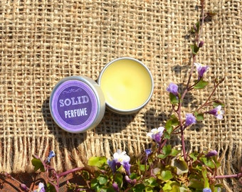 Organic Solid Perfume SWEET MUSK Vegan Natural Perfume Tin 9ml / 0.3 fl oz
