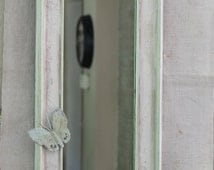 Unique narrow wall decor related items etsy for Narrow decorative mirrors