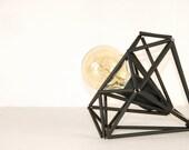 Himmeli Light Diamond Cage Table Lamp Geometric Black Matte Minimal Table Lamp Industrial Original Himmeli Art Panselinos