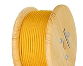 Fabric Cable Electric Textile Cable wire for Lighting Round 2x0.75 Gold Wooden Reel