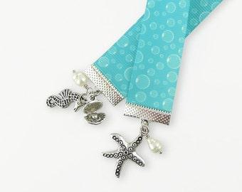 Beach Theme Ribbon Bookmark  - Seashore Tropical Holiday - Vacation Beach Read