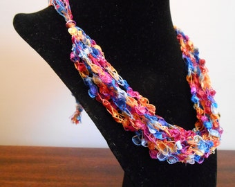 Trellis Necklace / Crochet Necklace Item No. 118 Perfect for Easter or Mother's Day