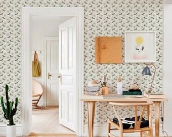 Light self-adhesive vinyl Wallpaper wall decal - Flower pattern sticker C040