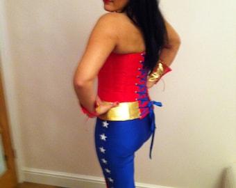 wonder woman leggings made from lycra