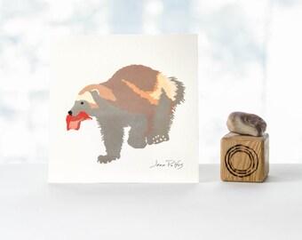 Wolverine drawing, fine art print, wolverine illustration, wolverine wall art, animal decor, log cabin decor, Canadian wild animals