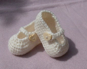 Custom Crochet Baby Shoe Booties, Baby Shoes with Side Strap - MADE TO ORDER