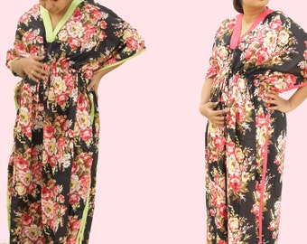 Maternity gown, Kaftan for pregnancy, Labor dress, back open gown, black maternity, Hospital gown, maternity kaftan, feeding gown, nursing