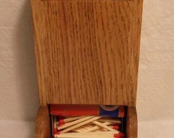 Short Wooden Match-stick Holder