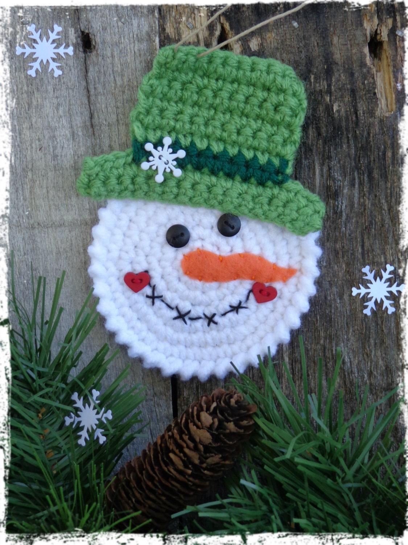 snowman christmas ornament crochet snowman snowmen. Black Bedroom Furniture Sets. Home Design Ideas