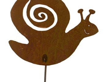 Snail Metal Garden Stake, Yard Art GS31
