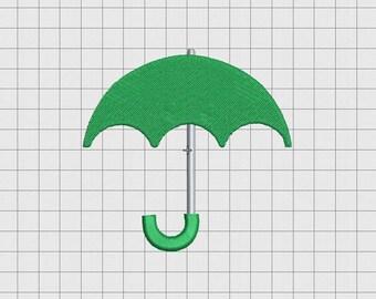 Umbrella Simple Embroidery Design in Mini 1x1 2x2 3x3 and 4x4 Sizes