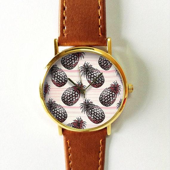 montre femme vintage cuir
