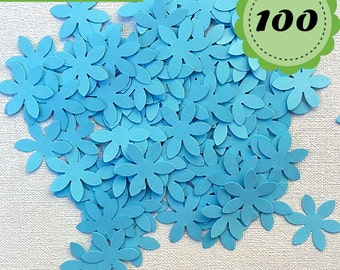 Baby Blue Confettis - 100 Flowers - Scrapbooking - Party confetti