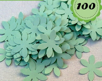 Pastel Green Confettis - 100 Flowers - Scrapbooking - Party confetti