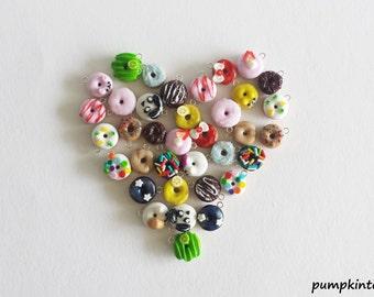 Donut Cute Clay Charms